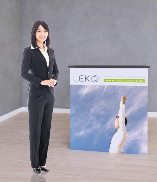 leko comptoir pour stand d 39 exposition et salons. Black Bedroom Furniture Sets. Home Design Ideas