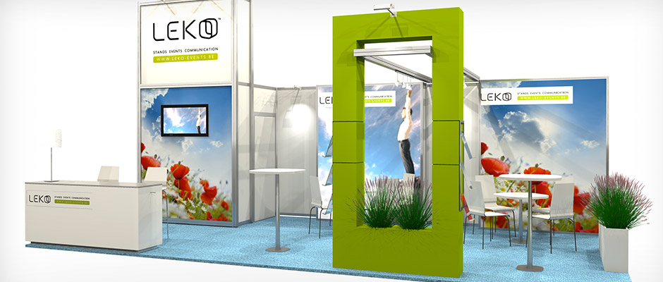 Leko noe leko for Location stand exposition